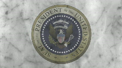Presidential Seal 04 (30fps) Stock Footage