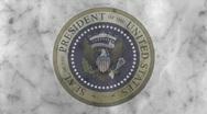 Presidential Seal 04 (30fps) Stock Footage
