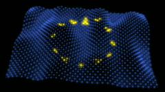 Glowing EU Flag - European Union 05 (HD) Stock Footage