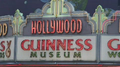 Hollywood Guinness Museum Stock Footage