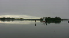Sailing on a frozen lake 1 Stock Footage