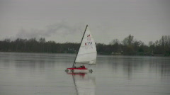 Sailing on a frozen lake 2 Stock Footage