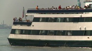 Stock Video Footage of ferry boat, New York Harbor