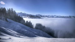 winter fog HDR time lapse 6 - stock footage