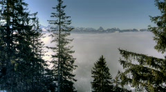 winter fog HDR time lapse 5 - stock footage