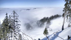 winter fog HDR time lapse 4 - stock footage