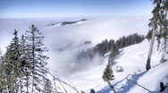 Winter fog HDR time lapse 4 Stock Footage