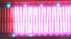 Pulsing neon lights bars sign Stock Footage