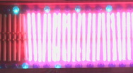 Stock Video Footage of pulsing neon lights bars sign