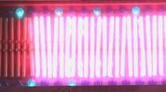 Pulsing neon lights bars sign Stock Footage