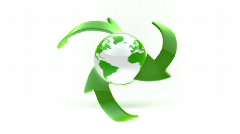 Motion eco icon Stock Footage