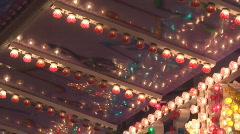lights flash rhythmically on a sign Stock Footage