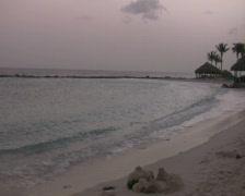 Tropical beach on curacao 9 PAL Stock Footage