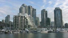 Waterfront condos. Vancouver, BC, Canada. Stock Footage