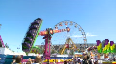 Amusement park, midway rides #6 Stock Footage