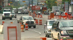 Construction, traffic and road construction, #1 Stock Footage