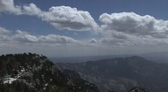 Cloud and Mountain Timelapse Stock Footage