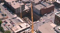 Construction crane, time lapse, #1 - stock footage