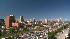 Beltline condos and traffic Stock Footage