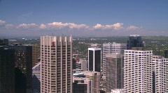 Calgary skyline, medium from tower Stock Footage