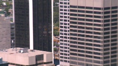 Calgary skyline, zoom back from tower Stock Footage