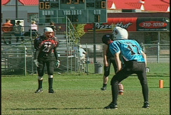 Sports and fitness, kids football, #4 kickoff hard tackle Stock Footage