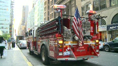 New York City fire dept truck FDNY, #5 Stock Footage