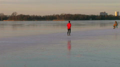 Man jogging on ice 2 Stock Footage