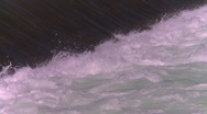 Stock Video Footage of weir on river, dangerous current, drowning machine, #3