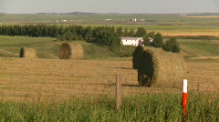 Agriculture, hay bales and fields, #2 Stock Footage