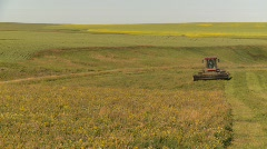 Agriculture, tractor harvesting timothy hay, #3 Stock Footage
