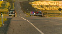 Stock Video Footage of crime and justice, police cars on highway, #2