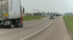 Trucking, transport trucks on highway, #1 Stock Footage