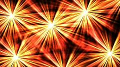 Bright fireworks - digital animation Stock Footage