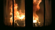 Stock Video Footage of Fire in the fireplace 2