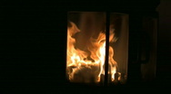 Stock Video Footage of Fire in the fireplace 3