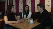 HD1080i Group of Young Adults in Cafe Stock Footage