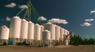Stock Video Footage of fertilizer storage tanks, #2
