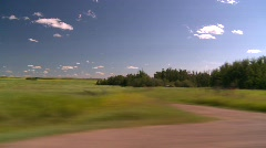 Agriculture, wheat fields and pasture land, drive along Stock Footage