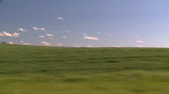 Drive plate, through the countryside, wheat fields Stock Footage