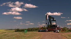 Oil & gas, pumpjack, oil well, #6 Stock Footage