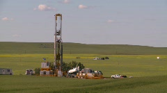 oil & gas, drill rig, oil well, long shot - stock footage