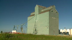 Agriculture, old wooden grain elevator, #3 Stock Footage
