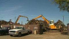 The environment, junkyard, metal recycler grapple, #11 Stock Footage