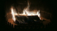 Stock Video Footage of Fire in the fireplace time lapse 2
