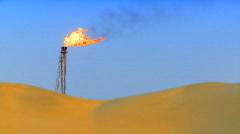Gas flare Stock Footage