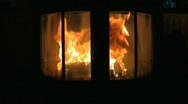 Stock Video Footage of Fire in the fireplace 9