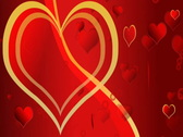 Flying Love Hearts -Valentine's Day Background Stock Footage