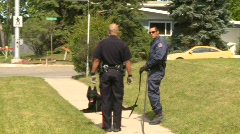 Crime and justice, Police K9 unit, handler and dog #3 Stock Footage
