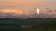 Stock Video Footage of oil & gas, gas flare, time lapse